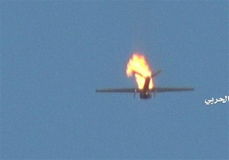 پدافند هوایی یمن یک پهپاد دیگر ائتلاف سعودی را منهدم کرد
