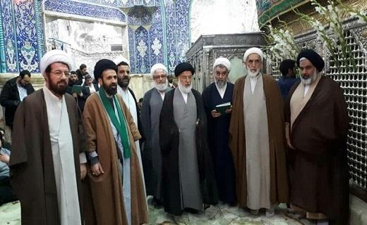 رئیس شورای قرارگاه راهبردی عمار در حرم حضرت معصومه(س)