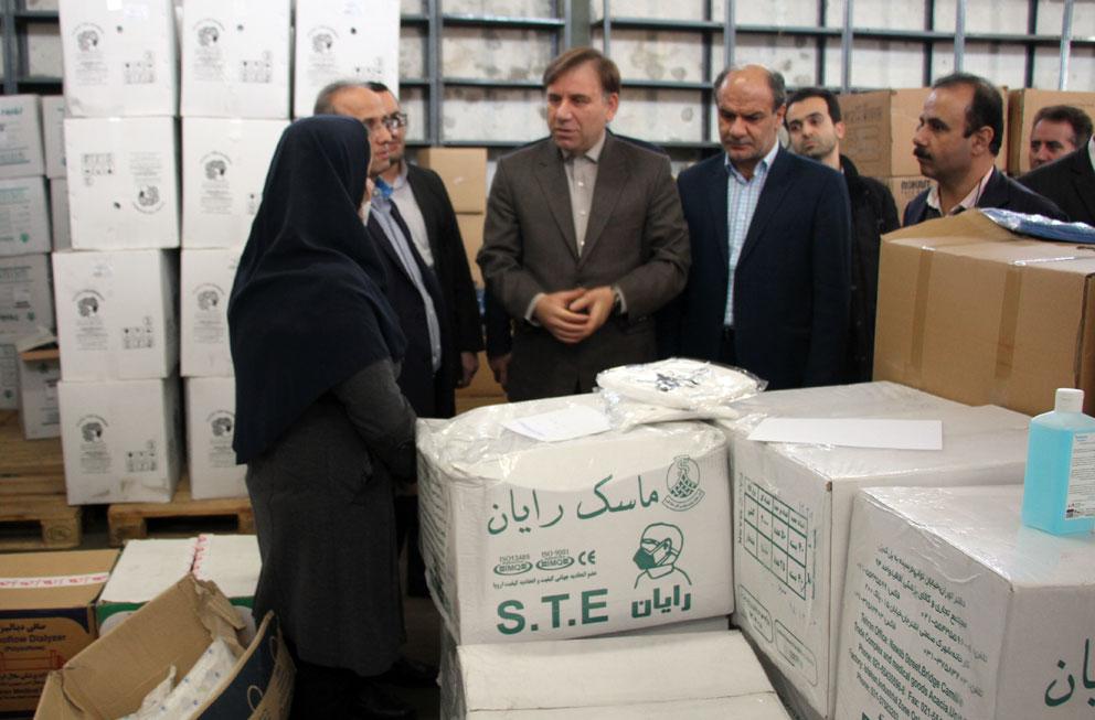 بازدید استاندار از انبار محموله بهداشتی ارسالی به گیلان