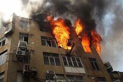 آتشسوزی مجتمع مسکونی در قم/ ۷۱ نفر کشته و مصدوم شدند