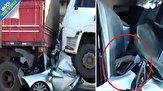 باشگاه خبرنگاران - زنده ماندن باورنکردنی راننده جوان در تصادف شدید رانندگی! +فیلم