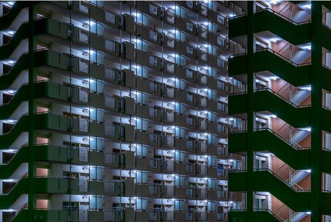 عکس روز نشنال جئوگرافیک از مجمتعهای مسکونی توکیو