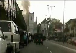 لحظه انفجار در کلیسای «سنت آنتونی» سریلانکا + فیلم