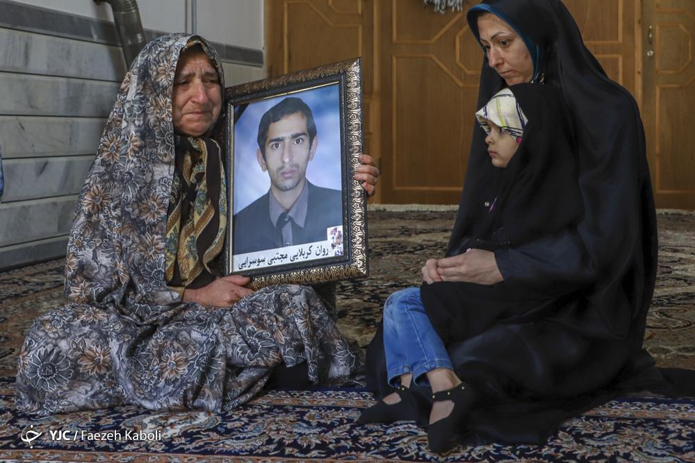خانواده شهید کربلایی مجتبی سوسرایی، معدنچی جانباخته در حادثه معدن زمستان یورت.
