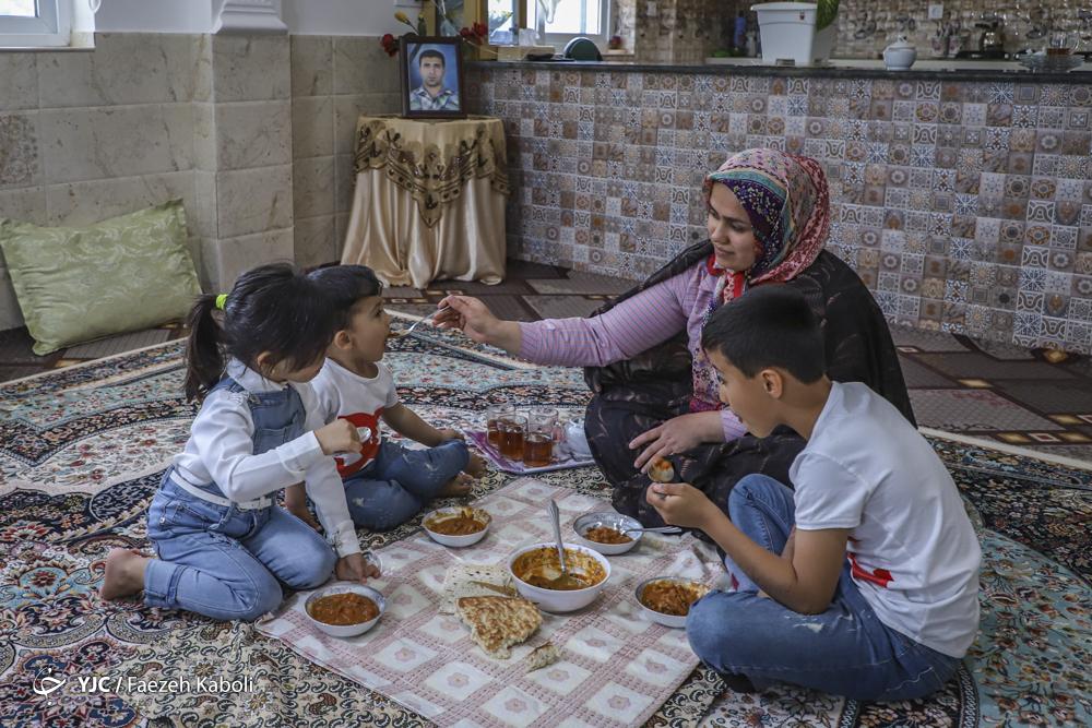 همسر و فرزندان شهید حمید میردار، معدنچی جانباخته در حادثه معدن زمستان یورت