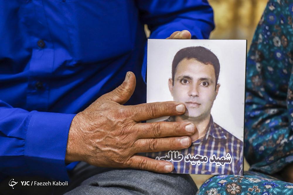 شهید مجید طالبی سوسرایی، ۳۸ساله، یک دختر ۱۰ ساله داشت.