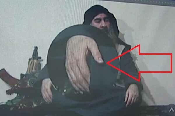 رازی نهفته روی دست ابوبکر البغدادی/