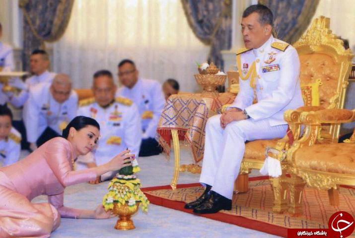 پادشاه تایلند با محافظ خود ازدواج کرد + عکس