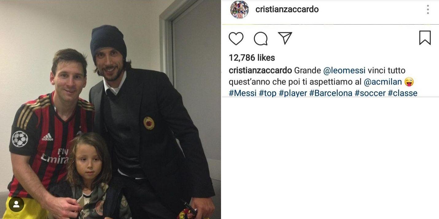 مسی در راه ایتالیا