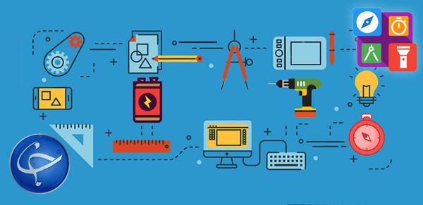 دانلود Smart Tools : Compass, Calculator, Ruler, Bar Code v1.1.42 – برنامه ابزارهای مهندسی و دانشجویی مختلف برای اندروید