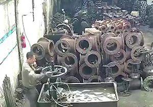 مرگ یک کارگر بر اثر انفجار فلز مایع + فیلم