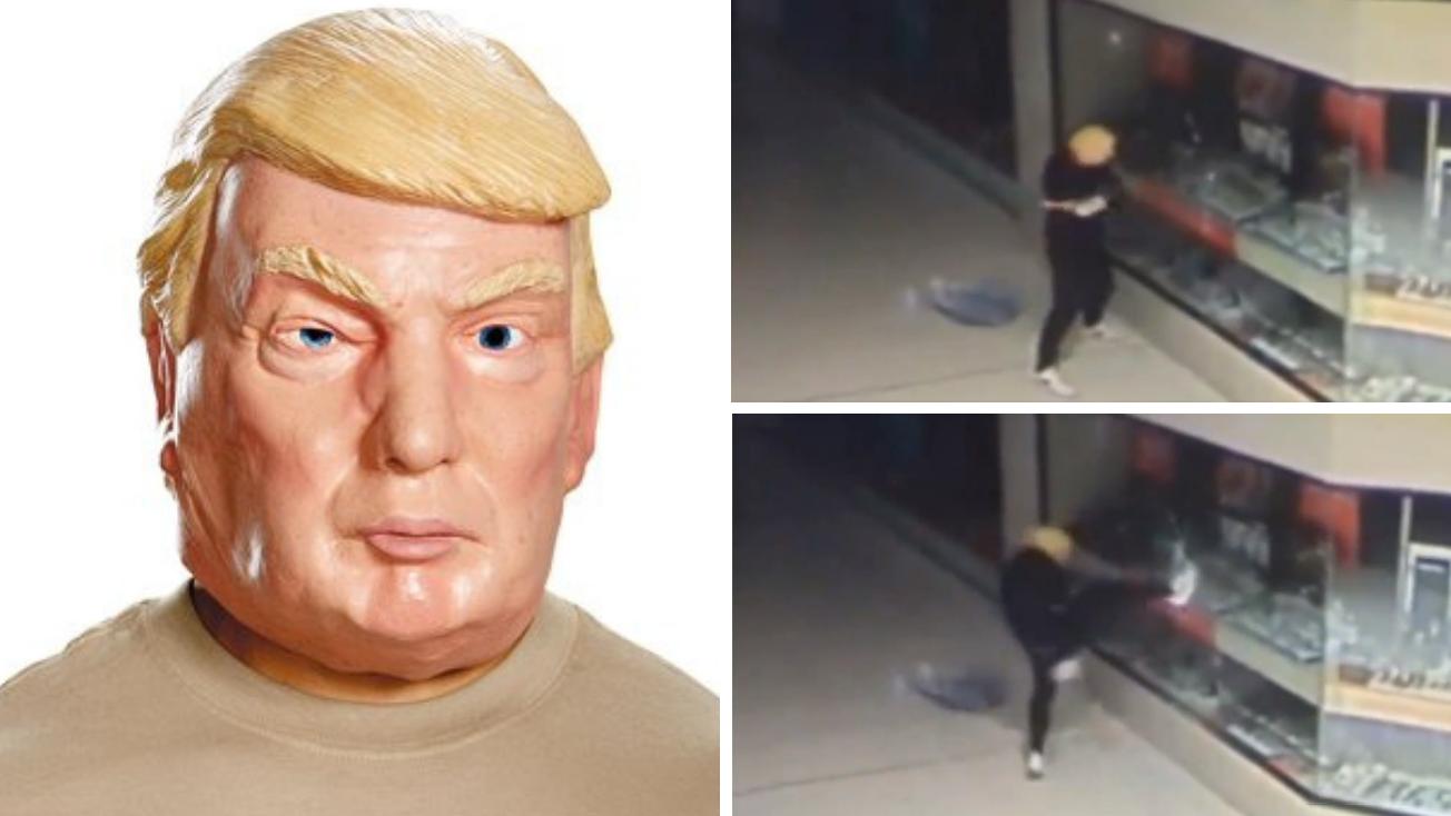 سرقت با ماسک ترامپ از طلافروشی! + فیلم//