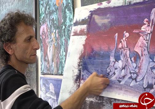 قنادی که تبدیل به نقاش خود آموخته شد + فیلم