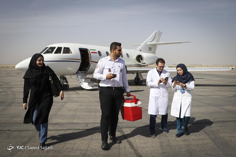 ماجرای سفر قلب پیوندی با جت و بالگرد از یزد به تهران/ وقتی فرشته زندگی بر روی شانههای یک جوان مینشیند