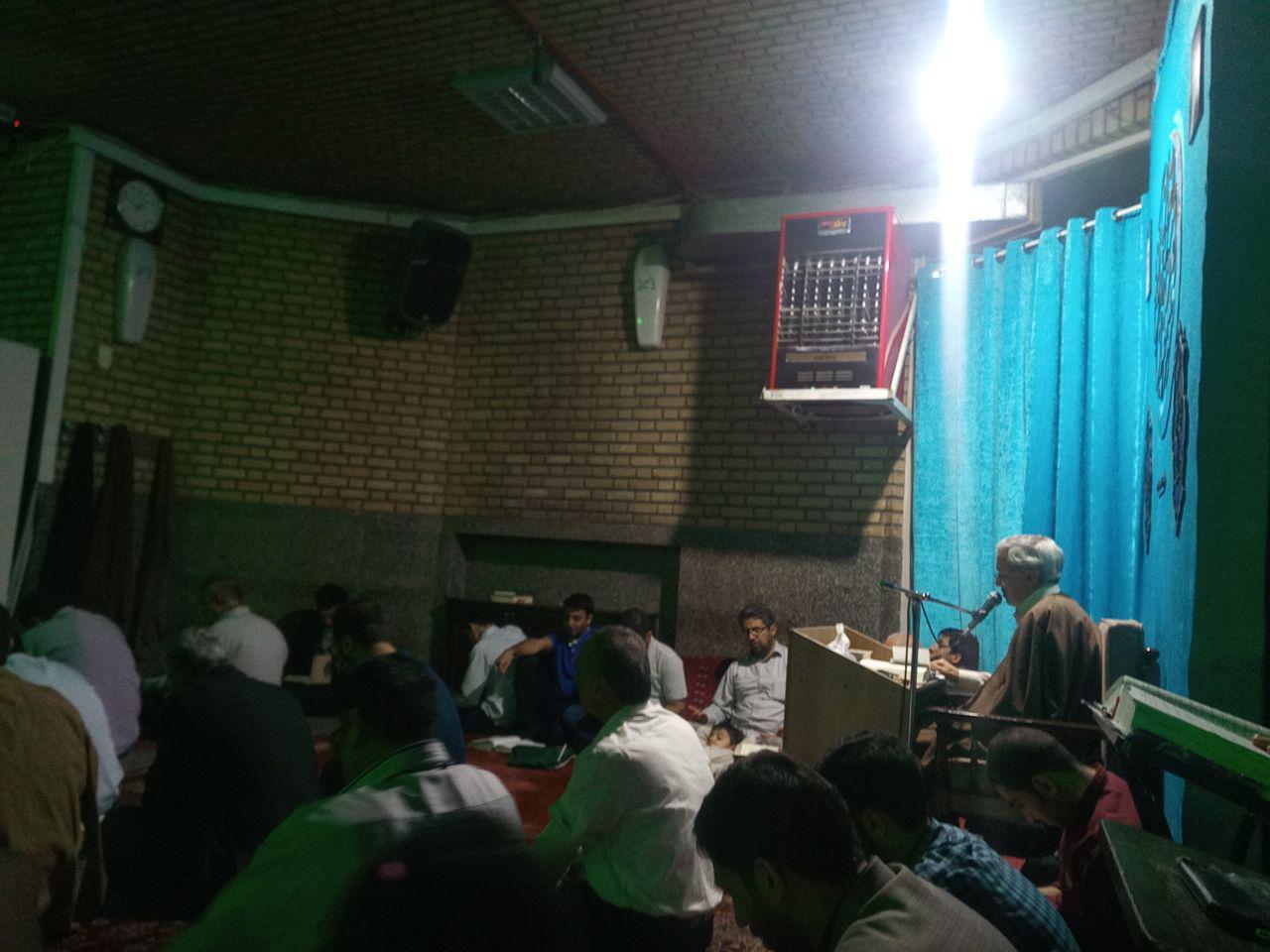 مسجد الشهدا در شب سوم رمضان به یاد سه ساله اباعبدالله (ع)