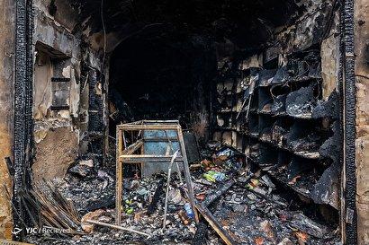 خسارات آتش سوزی بازار تبریز