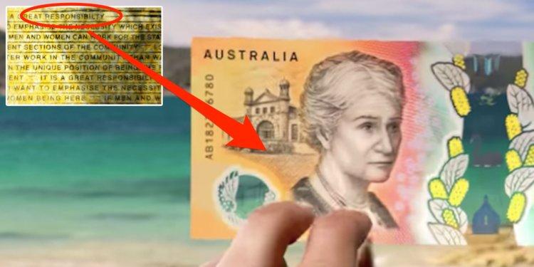 غلط املایی در اسکناسهای ۵۰ دلاری جدید استرالیا + عکس