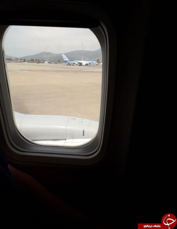 اصابت صاعقه به هواپیما لحظاتی قبل از فرود + تصاویر///