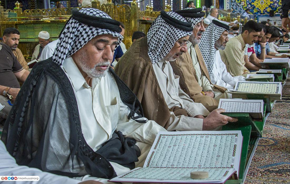 محفل اُنس با قرآن کریم در صحن مطهر سید الشهداء(ع) +تصاویر