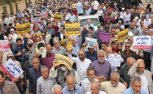 راهپیمایی روزهداران در حمایت از بیانیه شورای عالی امنیت ملی در سراسر کشور برگزار شد