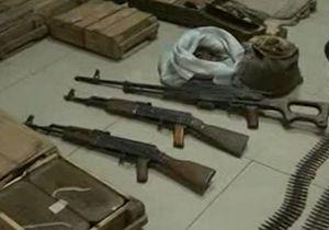 کشف انبار سلاح تروریستها در ریف دمشق + فیلم