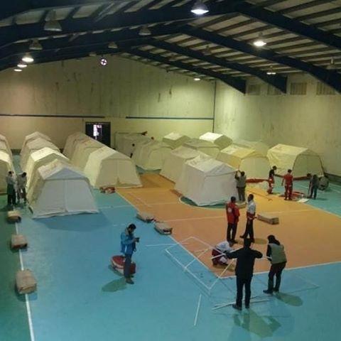 برپایی اردوگاه جدید اسکان موقت در حسینآباد میامی