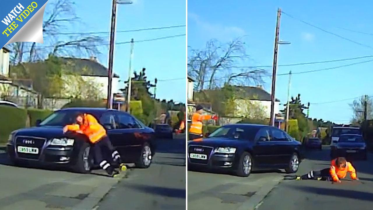 تمارض عجیب رفتگر برای گرفتن غرامت از راننده ! + فیلم