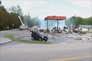 انفجار در پمپ بنزین ویرجینیا ۷ کشته و زخمی برجا گذاشت