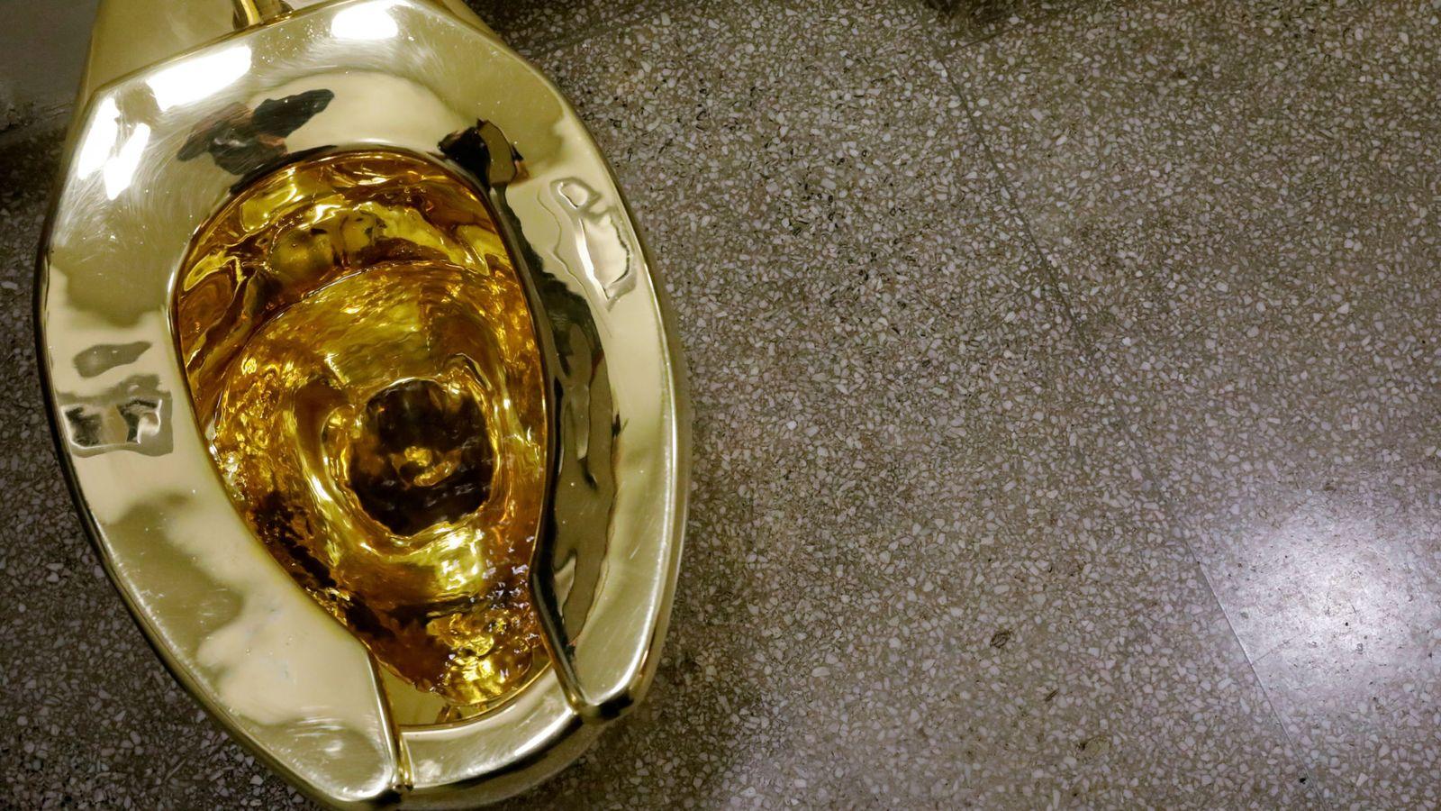 نصب توالت پر ماجرای طلایی در کاخ بلنهایم+تصاویر
