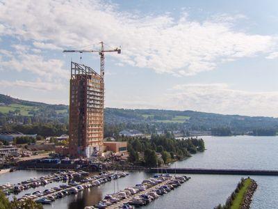 ساخت بلندترین ساختمان چوبی جهان+فیلم