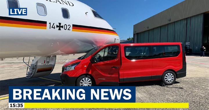 تصادف هواپیمای صدراعظم آلمان+تصویر