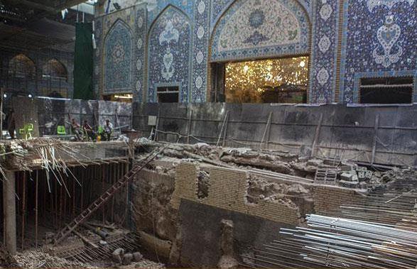 پایان ماموریت ستاد بازسازی عتبات عالیات استان مرکزی در صحن حضرت زهرا (س) / ادامه ماموریت در کربلا و سامرا