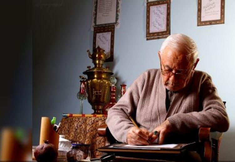 کتاب قران به  خط نستعلیق توسط خوشنویس میانهای