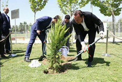 درختکاری مارک ویلموتس در بازدید از  مرکز ملی فوتبال + فیلم