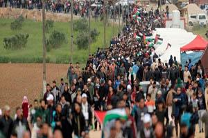 مجروح شدن ۶۰ فلسطینی در راهپیمایی روز نکبت