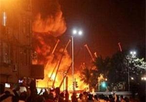 آتشسوزی مرکز تجاری البشیر نجف