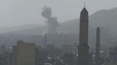 حمله هوایی ائتلاف سعودی به صنعا + فیلم