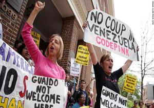 هجوم نیروهای پلیس آمریکا به سفارت ونزوئلا