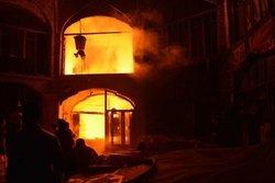 خبر عمدی بودن آتشسوزی بازار تبریز کذب محض است