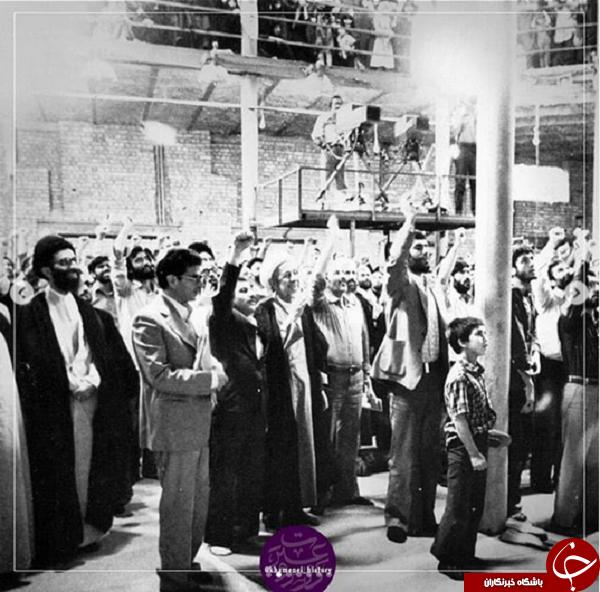 تصاویر ناب از امام و آیتالله خامنهای در حسینیه جماران