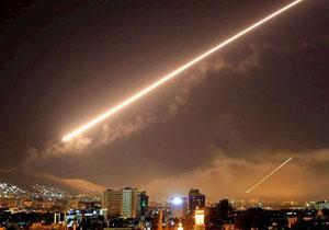 پدافند هوایی سوریه تجاوز هوایی به این کشور را دفع کرد