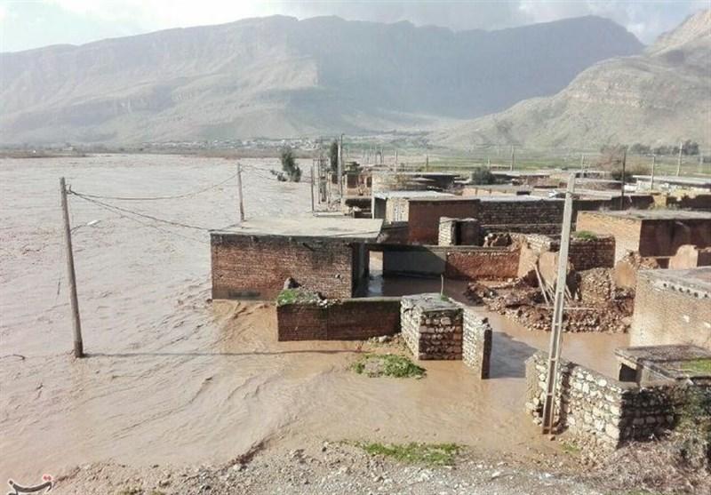 سیل به ۱۰۰ واحد مسکونی شهر آشخانه خسارت زد