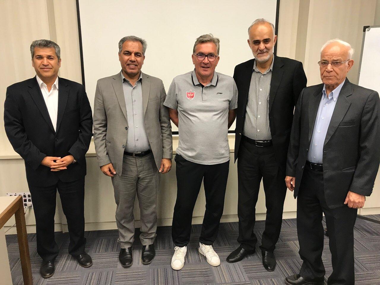 نشست مدیر عامل و تعدادی از اعضای هیئت مدیره با برانکو