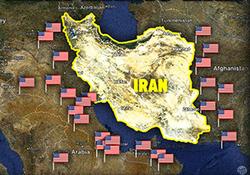 موشکهای ایران کدام جهت را نشانه بگیرند تا پایگاههای نظامی آمریکا آنجا نباشند؟ + فیلم
