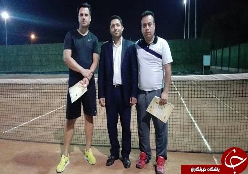 پایان کار مسابقات جام رمضان تنیس آقایان در رده سنی آزاد شهرستان اهواز
