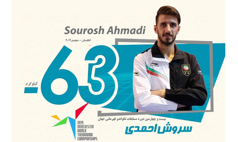 صعود احمدی به فینال مسابقات جهانی تکواندو