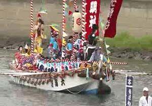 برگزاری جشنواره سنتی قایقها در غزب ژاپن + فیلم