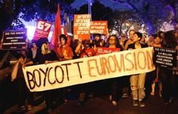 پخش جنایات صهیونیستها در مسابقات یوروویژن اسرائیل توسط هکرها + فیلم