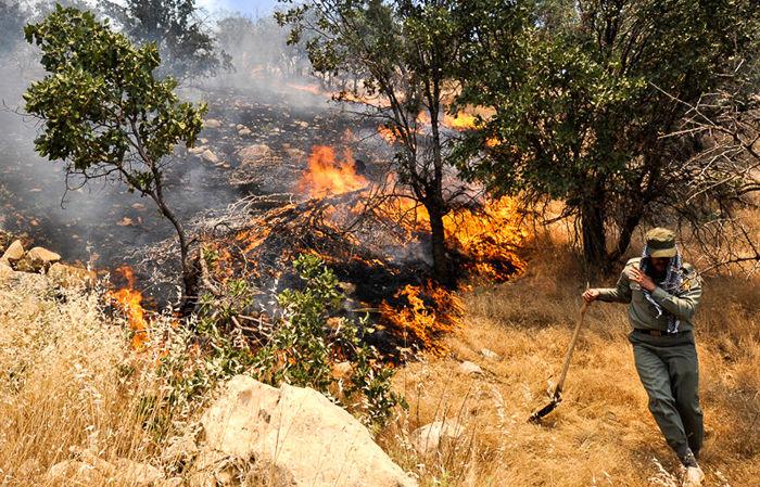 آمادگی یگان حفاظت برای آتش سوزی احتمالی جنگلها و مراتع