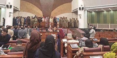 درگیری در صحن مجلس افغانستان بر سر کرسی ریاست + فیلم